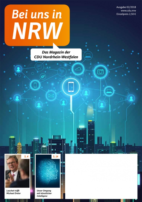 """Magazin der CDU NRW, """"Bei uns in NRW"""" Ausgabe 02/18"""